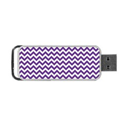 Royal Purple & White Zigzag Pattern Portable Usb Flash (two Sides) by Zandiepants