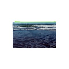 Ocean Surf Beach Waves Cosmetic Bag (xs) by CrypticFragmentsColors