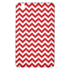 Poppy Red & White Zigzag Pattern Samsung Galaxy Tab Pro 8.4 Hardshell Case by Zandiepants