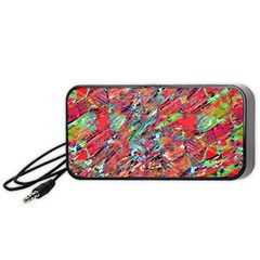 Expressive Abstract Grunge Portable Speaker (black)  by dflcprints
