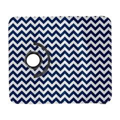 Navy Blue & White Zigzag Pattern Samsung Galaxy S  Iii Flip 360 Case by Zandiepants