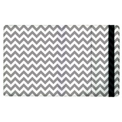 Medium Grey & White Zigzag Pattern Apple Ipad 2 Flip Case