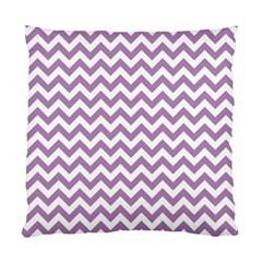 Lilac Purple & White Zigzag Pattern Standard Cushion Case (two Sides) by Zandiepants