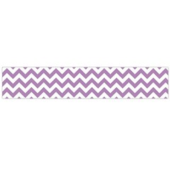 Lilac Purple & White Zigzag Pattern Flano Scarf (large) by Zandiepants