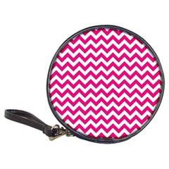 Hot Pink & White Zigzag Pattern Classic 20 Cd Wallet by Zandiepants
