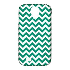 Emerald Green & White Zigzag Pattern Samsung Galaxy S4 Classic Hardshell Case (pc+silicone) by Zandiepants