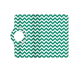 Emerald Green & White Zigzag Pattern Kindle Fire Hd (2013) Flip 360 Case by Zandiepants