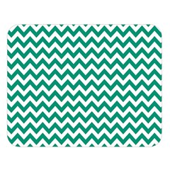 Emerald Green & White Zigzag Pattern Double Sided Flano Blanket (large) by Zandiepants
