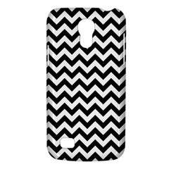 Black & White Zigzag Pattern Samsung Galaxy S4 Mini (gt I9190) Hardshell Case  by Zandiepants