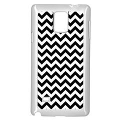 Black & White Zigzag Pattern Samsung Galaxy Note 4 Case (white) by Zandiepants