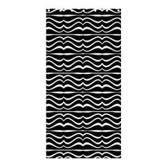 Modern Zebra Pattern Shower Curtain 36  X 72  (stall)  by dflcprints