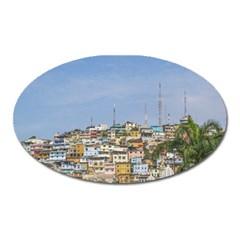 Cerro Santa Ana Guayaquil Ecuador Oval Magnet by dflcprints