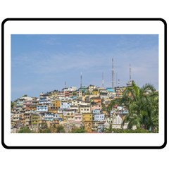 Cerro Santa Ana Guayaquil Ecuador Double Sided Fleece Blanket (Medium)  by dflcprints