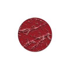 Thorny Abstract,red Golf Ball Marker by MoreColorsinLife