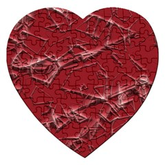 Thorny Abstract,red Jigsaw Puzzle (Heart) by MoreColorsinLife