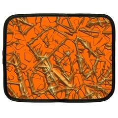 Thorny Abstract, Orange Netbook Case (large) by MoreColorsinLife