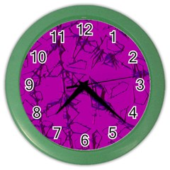 Thorny Abstract,hot Pink Color Wall Clocks by MoreColorsinLife