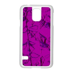 Thorny Abstract,hot Pink Samsung Galaxy S5 Case (white) by MoreColorsinLife