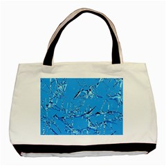 Thorny Abstract,ice Blue Basic Tote Bag (two Sides) by MoreColorsinLife
