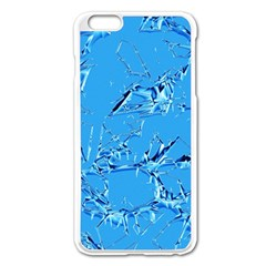 Thorny Abstract,ice Blue Apple Iphone 6 Plus/6s Plus Enamel White Case by MoreColorsinLife