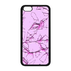Thorny Abstract,soft Pink Apple Iphone 5c Seamless Case (black) by MoreColorsinLife
