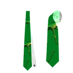 Thorny Abstract,green Neckties (One Side)  by MoreColorsinLife