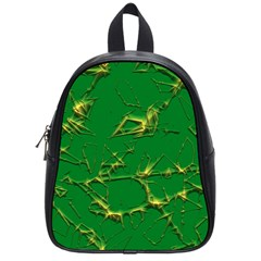 Thorny Abstract,green School Bags (small)  by MoreColorsinLife