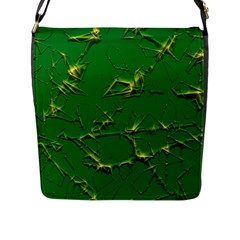 Thorny Abstract,green Flap Messenger Bag (l)  by MoreColorsinLife