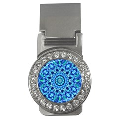 Blue Sea Jewel Mandala Money Clip (cz) by Zandiepants