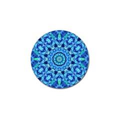 Blue Sea Jewel Mandala Golf Ball Marker (10 Pack) by Zandiepants