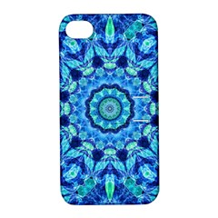 Blue Sea Jewel Mandala Apple iPhone 4/4S Hardshell Case with Stand by Zandiepants