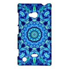 Blue Sea Jewel Mandala Nokia Lumia 720 Hardshell Case by Zandiepants