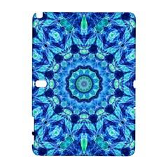 Blue Sea Jewel Mandala Samsung Galaxy Note 10 1 (p600) Hardshell Case by Zandiepants