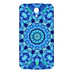 Blue Sea Jewel Mandala Samsung Galaxy Mega I9200 Hardshell Back Case by Zandiepants