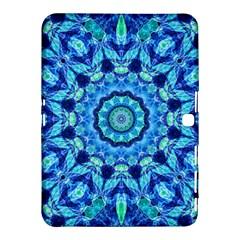 Blue Sea Jewel Mandala Samsung Galaxy Tab 4 (10 1 ) Hardshell Case  by Zandiepants