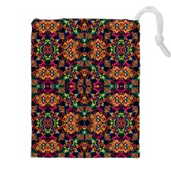 Luxury Boho Baroque Drawstring Pouches (XXL) by dflcprints