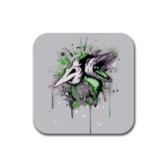Recently Deceased Rubber Square Coaster (4 Pack)  by lvbart