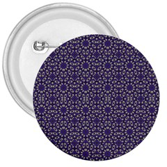 Stylized Floral Check 3  Buttons by dflcprints