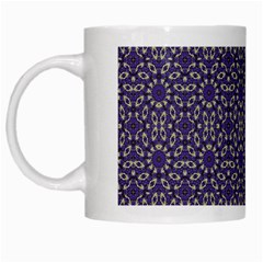Stylized Floral Check White Mugs by dflcprints