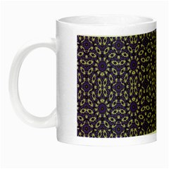 Stylized Floral Check Night Luminous Mugs by dflcprints