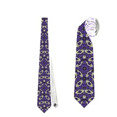 Stylized Floral Check Neckties (two Side)  by dflcprints