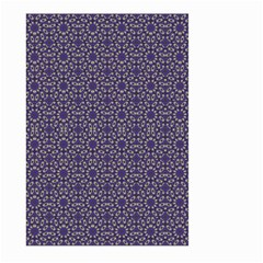 Stylized Floral Check Large Garden Flag (two Sides) by dflcprints