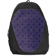 Stylized Floral Check Backpack Bag by dflcprints