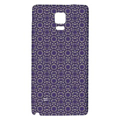 Stylized Floral Check Galaxy Note 4 Back Case by dflcprints