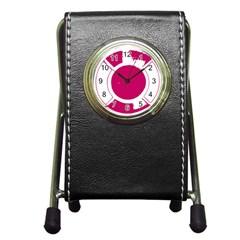 Pompey Lifesaver Pen Holder Desk Clocks by DeneWestUK