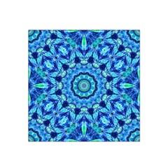 Blue Sea Jewel Mandala Satin Bandana Scarf by Zandiepants