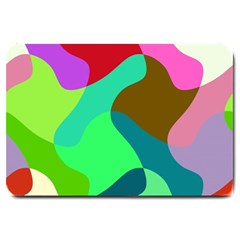 Retro Shapes                                   large Doormat by LalyLauraFLM