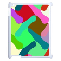 Retro Shapes                                   			apple Ipad 2 Case (white) by LalyLauraFLM