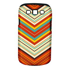 Bent Stripes                                    samsung Galaxy S Iii Classic Hardshell Case (pc+silicone) by LalyLauraFLM
