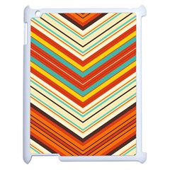 Bent Stripes                                    			apple Ipad 2 Case (white) by LalyLauraFLM